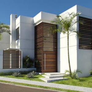 Simple villa decoration design