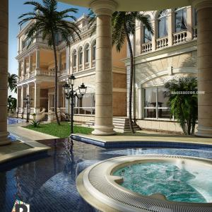 The most beautiful designs of swimming pools, villas and palaces