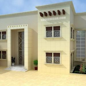 External decoration - facades of modern villas