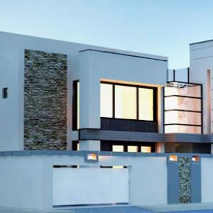 Modern design of the facades of modern villas